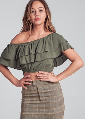 Bow N Arrow Ruffle Off Shoulder Top