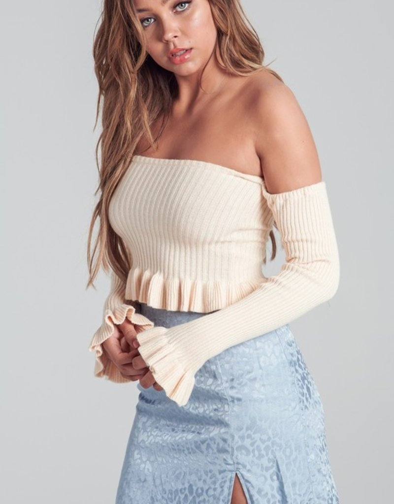 Bow N Arrow Knit Off Shoulder Top