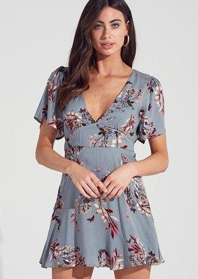 Bow N Arrow Blue/Grey Floral Dress