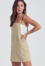 Bow N Arrow Tan Overall Dress