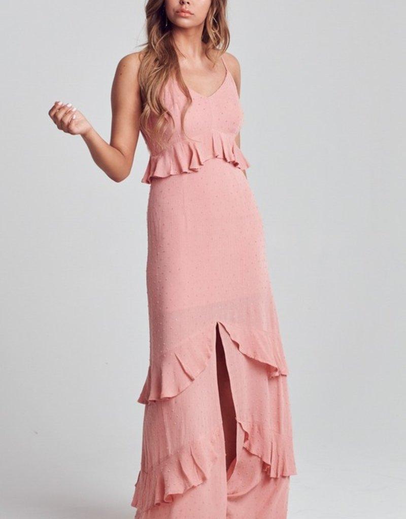 Bow N Arrow Coral Ruffle Dress