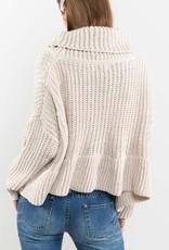 Bow N Arrow Ruffle Turtleneck Sweater