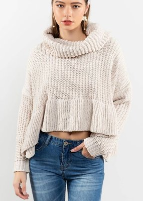 Bow N Arrow Ruffle Turtleneck Sweater