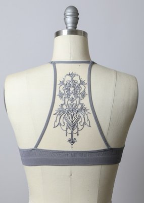 Bow N Arrow Tattoo Mesh Bralette