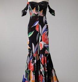 Bow N Arrow Black Floral Jumpsuit