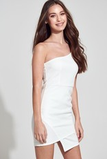 Bow N Arrow White One Shoulder Dress