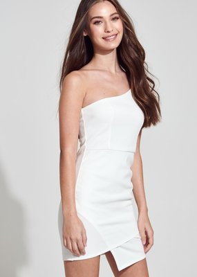 Bow N Arrow White One Shoulder Dress