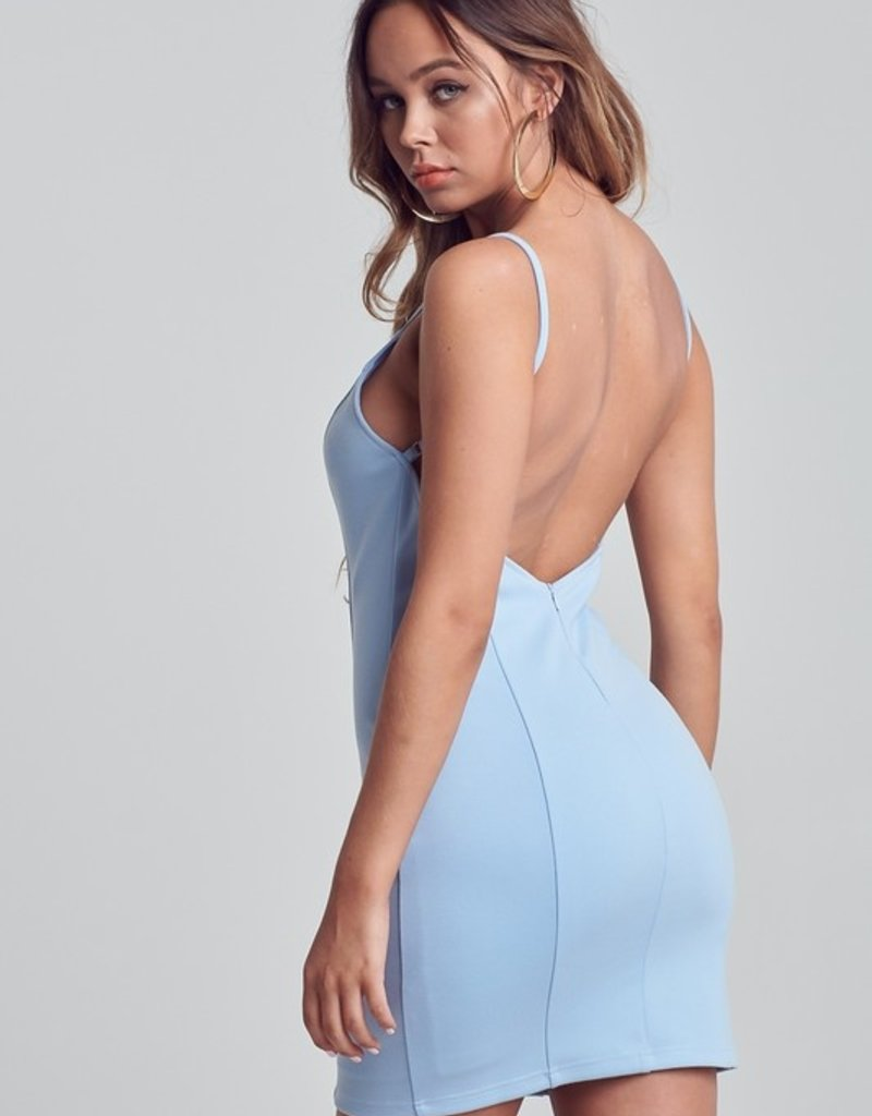Bow N Arrow Baby Blue Bodycon Dress