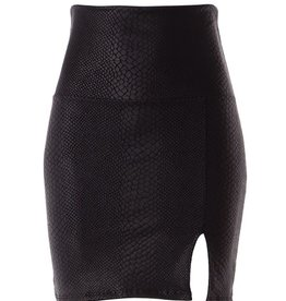 Bow N Arrow Leather Snake Print Pencil Skirt