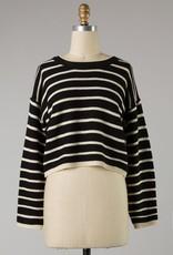 Bow N Arrow Black Steff Stripe Sweater