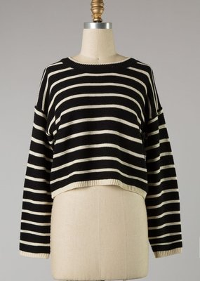 Bow N Arrow Black Steff Stripe Sweater