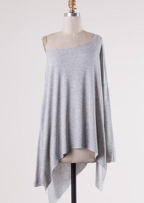 Bow N Arrow Heather Grey Tunic Long Sleeve