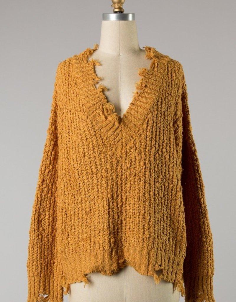 Bow N Arrow Mustard Fall SZN Sweater