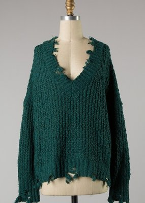 Bow N Arrow Teal Fall SZN Sweater