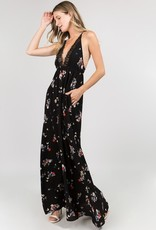 Bow N Arrow Lacy Floral Maxi Dress