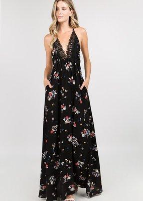 Bow N Arrow Lacy Floral Maxi Dress