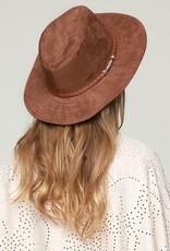 Bow N Arrow Cognac Suede Hat