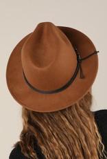 Bow N Arrow Brown Structured Felt Hat