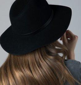 Bow N Arrow Black Classic Panama Hat