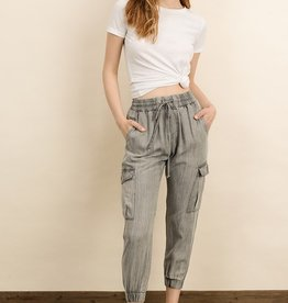 Bow N Arrow Grey Mineral Wash Mia Joggers