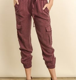 Bow N Arrow Burgundy Mia Joggers