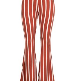 Bow N Arrow Rust Stripe Bell Bottom