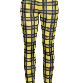 Bow N Arrow Yellow Plaid Jegging