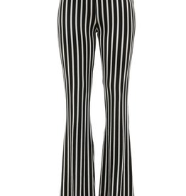 Bow N Arrow Black/White Stripe Bell Bottom