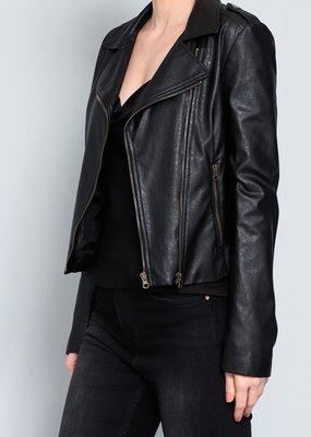 Bow N Arrow Faux Leather Moto Jacket