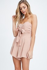 Bow N Arrow Shelby Blush Tie Romper