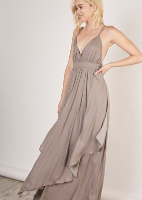 Bow N Arrow Grey Maxi Dress