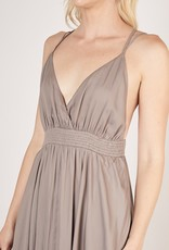 Bow N Arrow Grey Hi Lo Maxi Dress