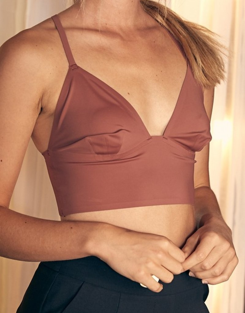 Bow N Arrow Rose Satin Racer Back Bralette