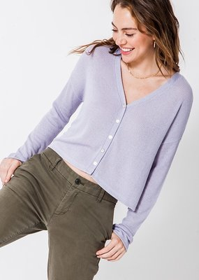 Bow N Arrow Lavender Button Me Up Top