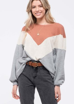 Bow N Arrow Grey Cabin Block Sweater