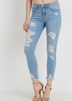 Bow N Arrow Light Wash Skinny Jean