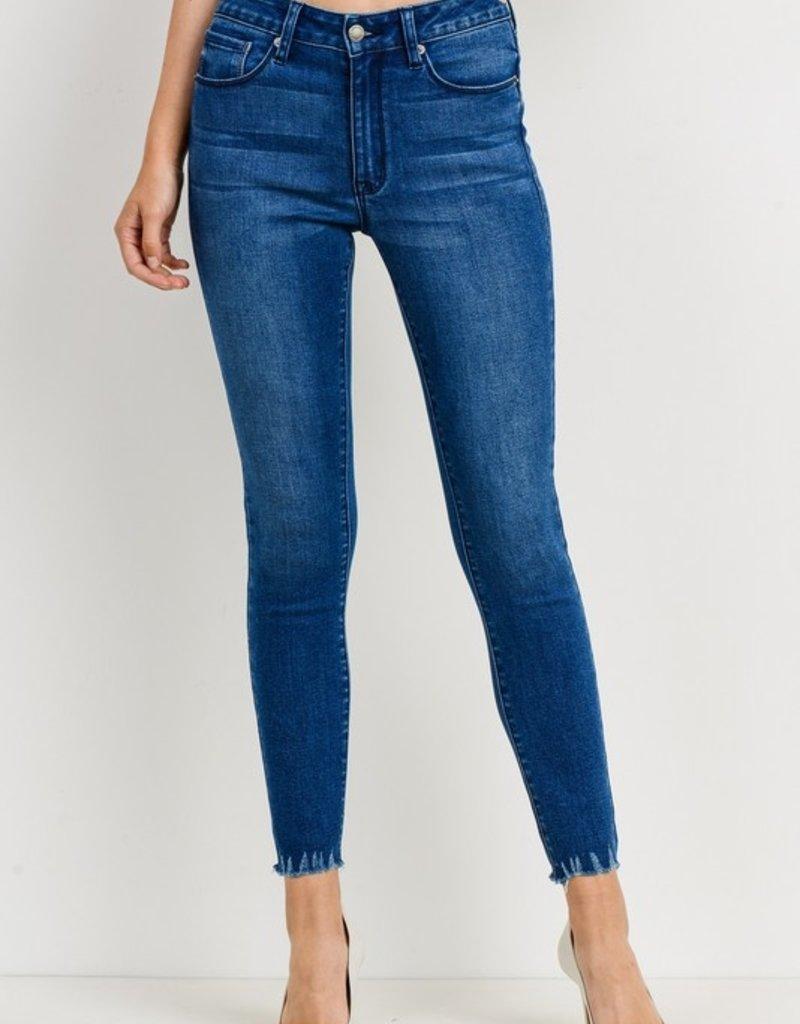 Bow N Arrow Dark Wash Skinny Jean
