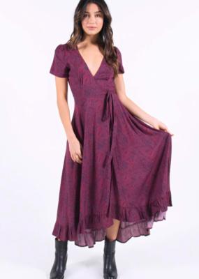 Bow N Arrow Paisley Wrap Maxi Dress
