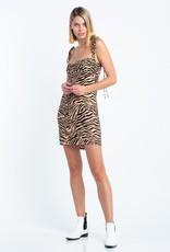 Bow N Arrow Zebra Mini Dress