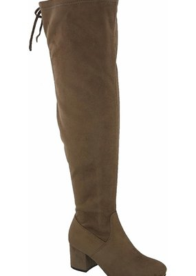 Bow N Arrow Taupe Kendall Thigh High Boot