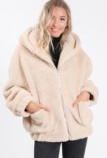 Bow N Arrow Taupe Sherpa Jacket