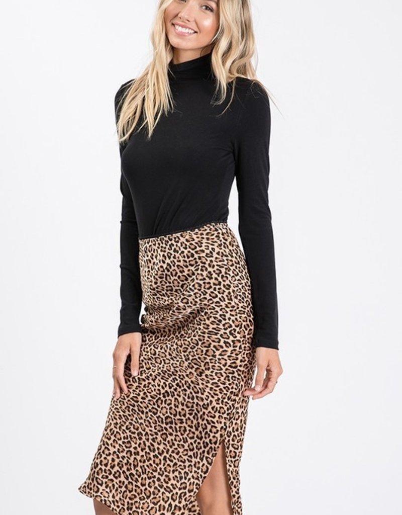 Bow N Arrow Cheetah Silk Maxi Skirt