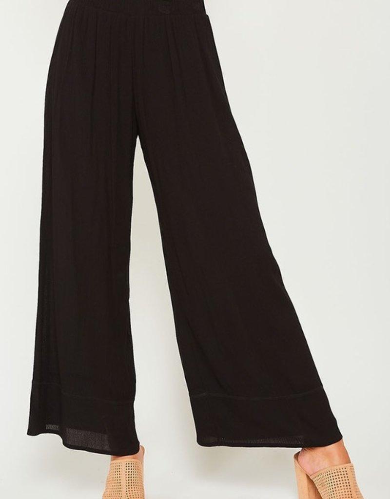 Bow N Arrow Black Wide Leg Pant