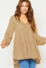 Bow N Arrow Taupe Thermal Tunic