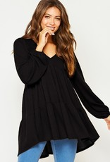 Bow N Arrow Black Thermal Tunic