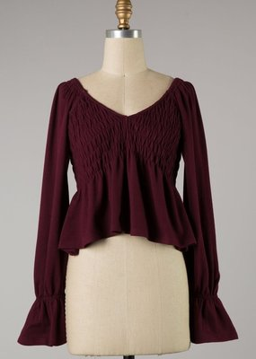 Bow N Arrow Wine Knit Top
