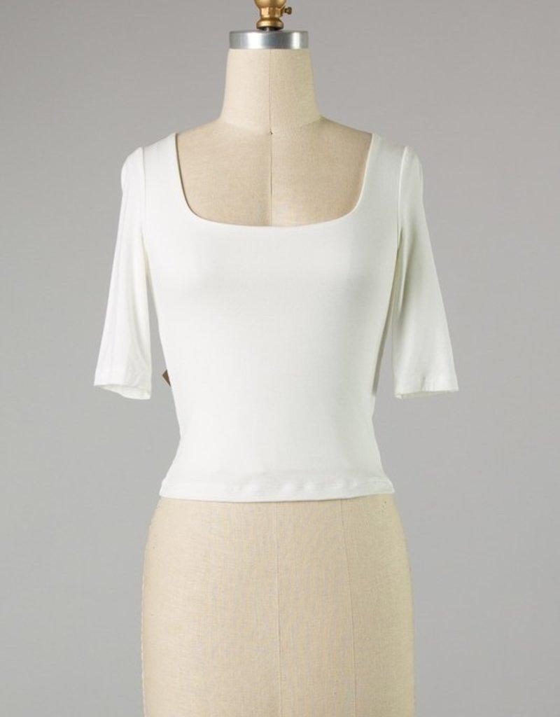 Bow N Arrow Ivory 3/4 Sleeve Top