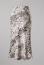 Bow N Arrow Leopard Midi Skirt