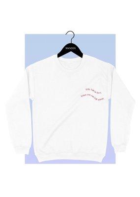 Bow N Arrow White Fall In Love Sweatshirt