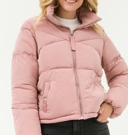 Bow N Arrow Mauve Quilted Puffer Jacket